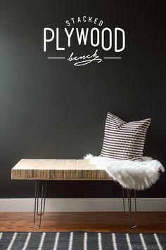 DIY Stacked Plywood Bench Tutorial {vintagerevivals}