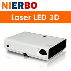 NIERBO 3D LED Projector HD Android 1080P Video Projector Portable 4500 Lumens Laser Tech Business Cinema Church School Education