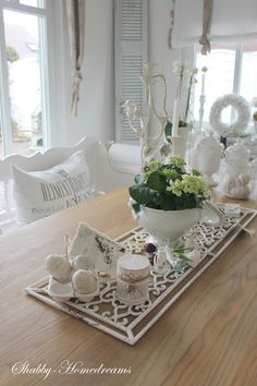 Shabby Chic Easter Decorations. Looks like a Dollar Store mat spray painted white. May be worth a try!