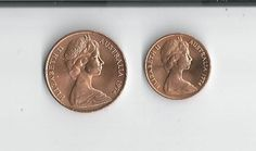 GEM 1974 Australia One Cent and Two Cent by COLLECTORSCENTER