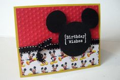 Mickey Mouse Birthday Card by MitzsCreations on Etsy https://www.etsy.com/listing/105242557/mickey-mouse-birthday-card