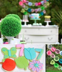 Garden of Eden themed birthday party Kids Girl