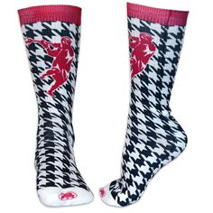 Release the hounds! Not sure why they call this pattern houndstooth but it looks pretty sweet on a pair of lax socks. Make a laxer really happy and give them these as a lacrosse gift today!