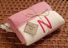 Personalized HandWoven Turkish Towel PINK Diamond COTTON PESHTEMAL - Monogrammed Embroidered by NaturalSoft on Etsy https://www.etsy.com/listing/165250758/personalized-handwoven-turkish-towel