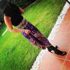 Falda joya, modelo boho