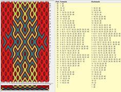 40 tarjetas, 4 colores, completa dibujo a los 40 movimientos // sed_261b diseñado en GTT༺❁