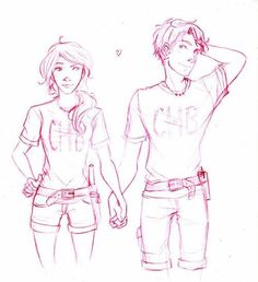 Percy Jackson fan art Percabeth!! So cute!!