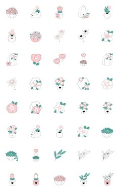 There are many cute plants here, don't forget to buy them :) Cute Small Drawings, Mini Drawings, Anime Drawings Sketches, Kawaii Doodles, Cute Doodles, Little Tattoo For Girls, Doodle Paint, Cute Doodle Art, Cute Sketches