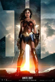 Wonder Woman poster | Starring Gal Gadot, Connie Nielsen, Amy Adams, Henry Cavill