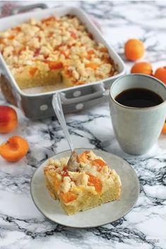 Schneller Quark-Streuselkuchen mit Aprikosen – Raspberrysue