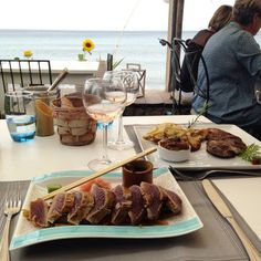 On Friday, just over a week ago, we ate at what I think has become my favourite 'holiday' restaurant - Couleurs Jardin in Gigaro, France. Restaurant, Eat, Recipes, Life, Food, Gardens, Colors, Diner Restaurant, Recipies