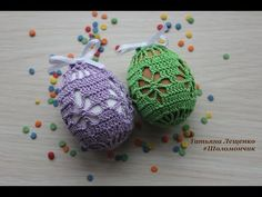 DIY Tutorial - How to Crochet an Egg - Lace Covered Eggs - Collab with Lorrie Popow Crochet Stone, Freeform Crochet, Crochet Stitches, Easter Egg Pattern, Easter Crochet Patterns, Crochet Angels, Crochet Birds, Easter Projects, Easter Crafts
