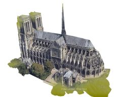 Cathédrale Paris en 3D google earth