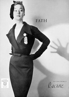 Jacques Fath- 1954 new look, garments that fit very tightly to conform the the woman's body showing off curves