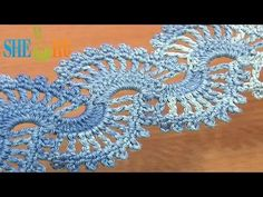 How to Crochet Lace Tape Tutorial 5 part 2 of 2 Crochet Lace Stitch Pattern - YouTube