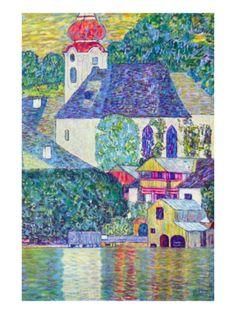 St. Wolfgang Church Premium Poster by Gustav Klimt at Art.com