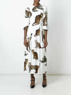 Dolce & Gabbana cat print dress