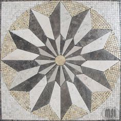 24x24  marble medallion mosaic tiles by MSI Stone