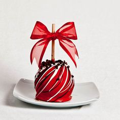 Cherry Chocolate Gourmet Caramel Apple by BigBearChocolates, $7.99