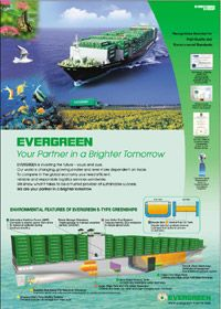 Sea Containers, Transportation Industry, Corporate Social Responsibility, Natural Resources, Marine Life, Evergreen