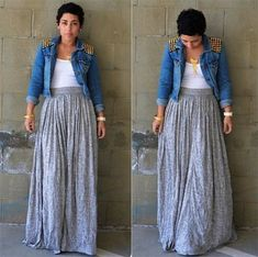 Casual Work Outfit Ideas Pictures summer casual work outfits ideas for plus size 81 fashion best Casual Work Outfit Ideas. Here is Casual Work Outfit Ideas Pictures for you. Casual Work Outfit Ideas casual work outfit ideas for fall my style vita . Diy Maxi Skirt, Maxi Skirt Outfits, Summer Dress Outfits, Casual Work Outfits, Curvy Outfits, Mode Outfits, Work Casual, Fashion Outfits, Maxi Skirts