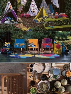 outdoor entertaining tips by habitat :: geronimo tents : maui deckchairs :: kid cushions :: melamine dinnerware