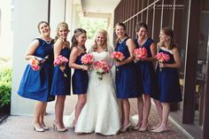 Navy Blue and Coral Color Palette...LOVE.