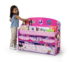 Toy Storage Box Childrens Deluxe Book and Toy Organizer Disney Minnie Mouse New #DeltaChildren