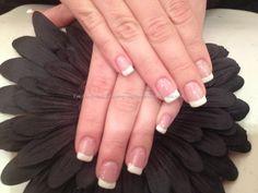 Acrylic nails with French polish