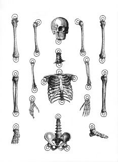 ImagiMeri's - fun skeleton to print on a shrinky dink page
