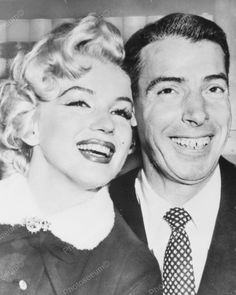 Marilyn Monroe & Joe Dimaggio Up Close! 8x10 Reprint Of Old Photo
