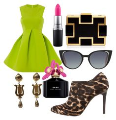 """Easter glam♡"" by ahumadarosy on Polyvore featuring Lanvin, Sondra Roberts, Fendi, Marc Jacobs and MAC Cosmetics"