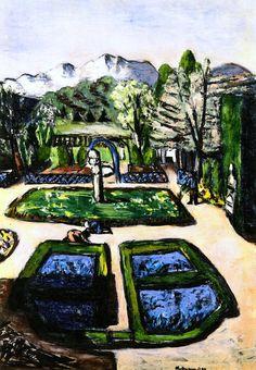 Garden Landscape in Spring with Mountains Max Beckmann - 1934