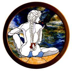 stained glass window by cheryl kumiski