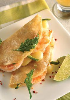 Quesadillas de camarón con queso... ¡Deliciosas!