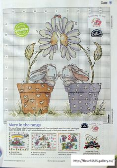 Cross-stitch Country Bunnies.. no color chart available, just use pattern chart as you color guide... or choose your own colors.    Gallery.ru / Фото #45 - 3 - Fleur55555