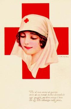 Postcard, Italy, c. 1935. Signed G. Nanni. Images from Postcards of Nursing: A Worldwide Tribute...