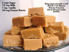 Easy PB Fudge! Seriously... That's it!