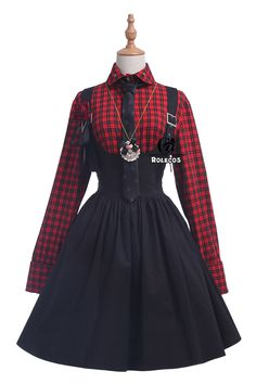 Designer Clothes, Shoes & Bags for Women Teen Fashion Outfits, Kpop Outfits, Edgy Outfits, Cute Fashion, Pretty Outfits, Fashion Dresses, Cute Outfits, Gothic Lolita Fashion, Victorian Fashion