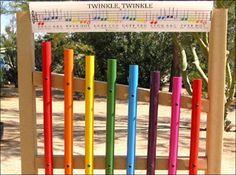 how to make a outdoor xylophone - Google Search More