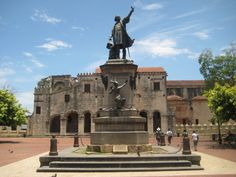 Colombus in Colonial Santo Domingo, Dominican Republic.