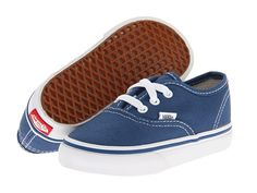Vans Kids Authentic Core (Toddler) Navy - Zappos.com Free Shipping BOTH Ways | Once he's a bit bigger