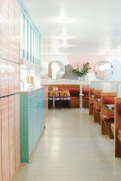 OverEasy Orchard: a Modern All-Pastel Nostalgic Diner in Singapore Photo byTawan Conchonnet.