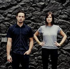 Phantogram — Josh  Sarah. They have a very unusual, eclectic techno, throbbing, vocal music-style.