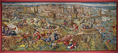 Orley,Bernaert (1492-1542)  Seven large tapestries illustrate the Battle of Pavia in 1525,in which Emperor Charles V.defeated French King Francois I.The sortie of the Imperial troops from the beleaguered Pavia;the Swiss mercenaries flee across the river Ticino;many drown.