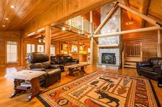Because of its traditional design, the Coopersburg is perfect in a country setting or suburban neighborhood. Featuring a large open floor plan. Design your log home today! Log Home Living, Living Room, Cabin Floor Plans, Timber House, Log Cabins, Next At Home, Sitting Area, Open Floor, Log Homes
