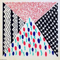 Composizione 39, 1930 di Sonia Delaunay (Sarah Ilinitchna Stern) (1885-1979, Ukraine)
