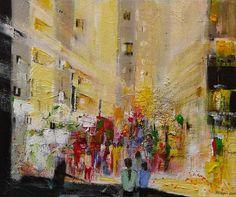 """Philippin, Inge, """"Pedestrian 2"""" (1) Mit einem Klick auf """"Als Kunstkarte versenden"""" versenden Sie kostenlos dieses Werk Ihren Freunden und Bekannten."""
