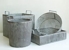 I have been looking for ages for metal baskets that have straight walls instead of angled! Thank you @Kirsten Nieman @ Restored Style!