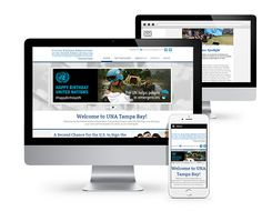 Here's a look at our website redesign for UNA Tampa Bay! #webdesign